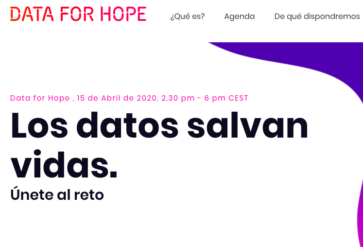 DatMean participa en 'Data-for-Hope'.